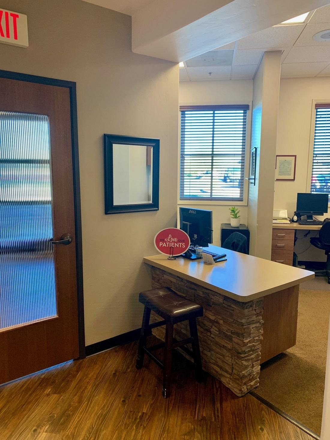 The check-out area at Smith Dentalworks