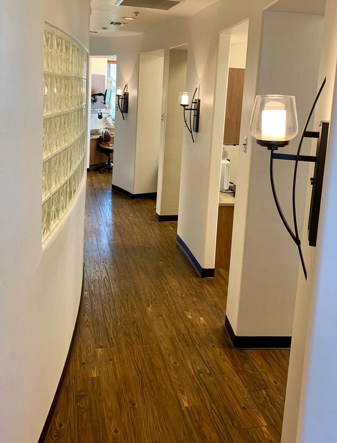 The hallway in our dental office in Oro Valley, AZ